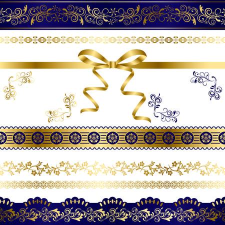 Luxury Design Elements Set. Illustration vector.  イラスト・ベクター素材