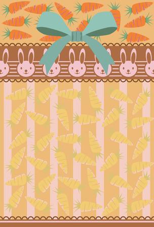 rabbit hole: Abstract rabbit postcard. Illustration vector.