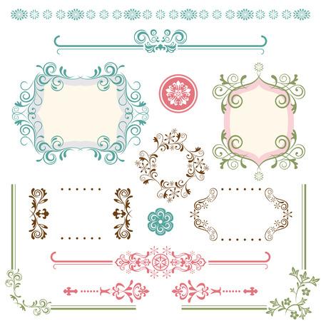 Design Elements Set. Illustration vector.