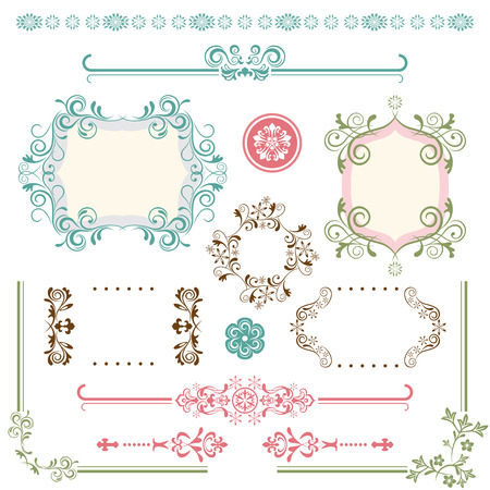 Design Elements Set. Illustration vector. Vector