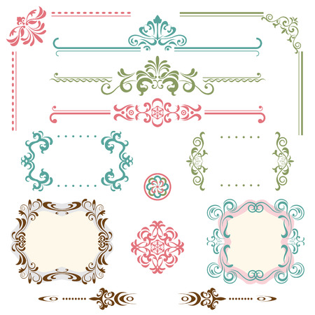 classical style: Design Elements Set. Illustration