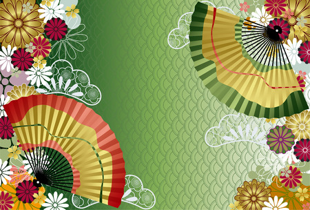 japanese culture: Japanese traditional pattern. Illustration