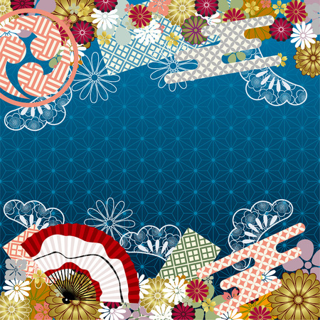 japan culture: Japanese traditional pattern. Illustration