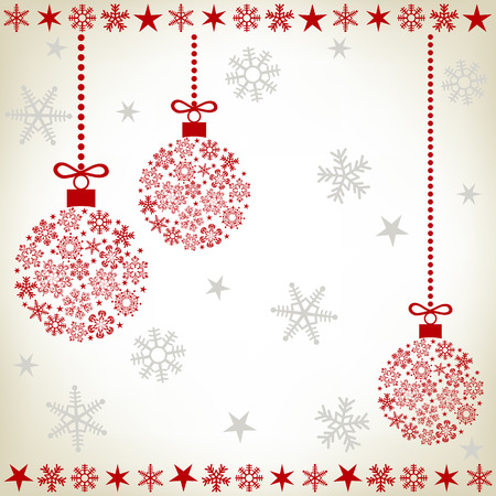 Abstract christmas ball background. Illustration