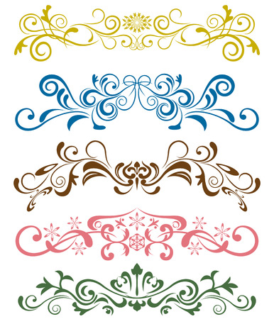 border frame: Design ornaments set. Illustration