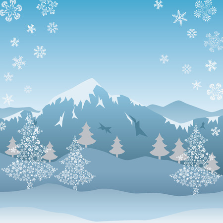 This graphic is snow mountain. Illustration vector. Vector