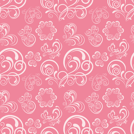 Abstract floral heart pattern. Illustration.
