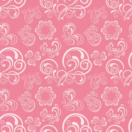 Abstrakt Blumen Herz Muster. Abbildung. Vektorgrafik