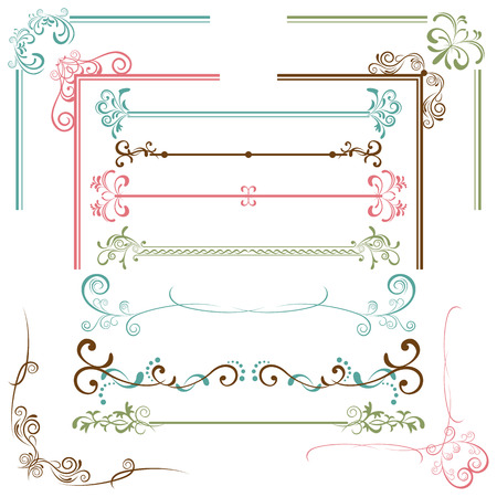 Design Elements Set. Illustration  Stock Vector - 8323368