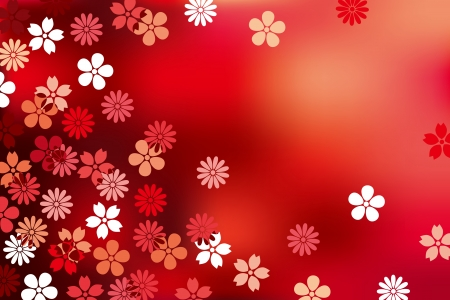 Abstract Luxury Blossom Background Illustration
