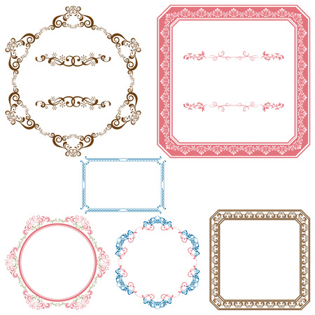 Abstract retro frame elements set Stock Vector - 8370977