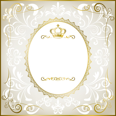 Abstract white romantic frame Vector