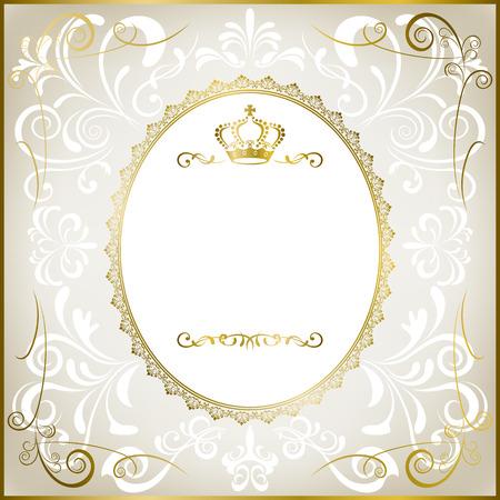 Abstracta marco romántico blanco Foto de archivo - 8370979