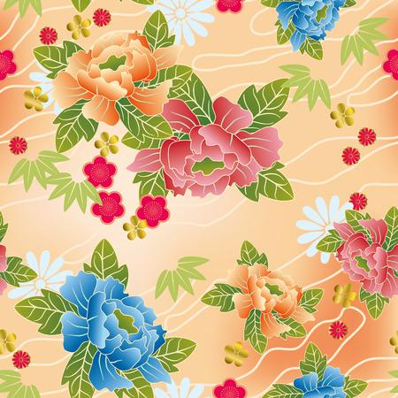 kimono: Transparente patr�n tradicional japon�s. Ilustraci�n vectorial.