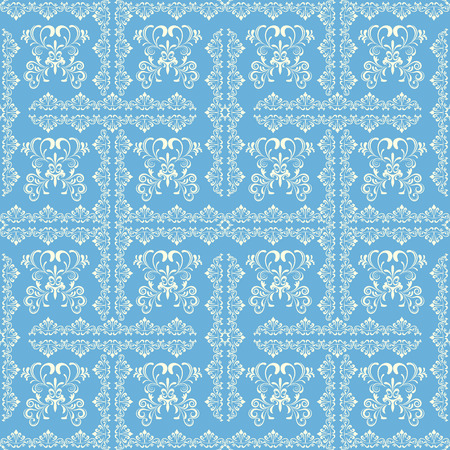 Abstract seamless blue pattern. Illustration.  Vector