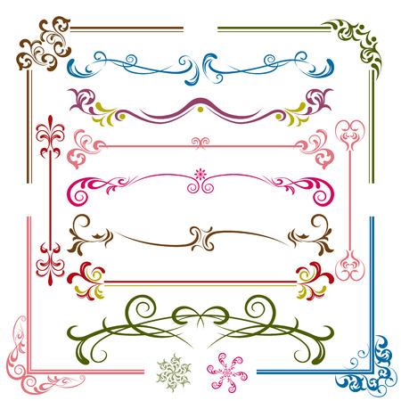 デザイン要素セット  イラスト・ベクター素材