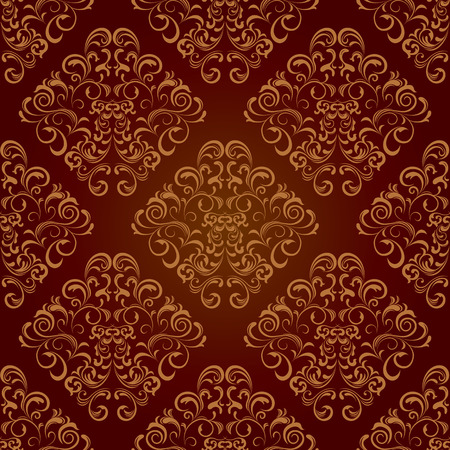 Seamless floral brown pattern. Illustration vector.