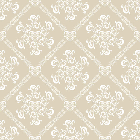 Seamless white floral pattern. Illustration vector.