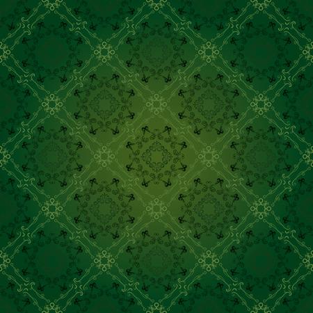 Seamless floral green pattern. Illustration vector. Vector