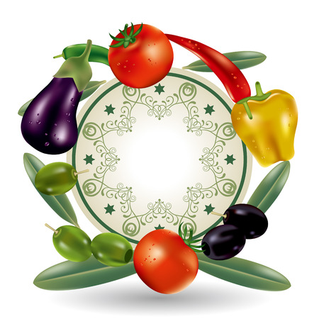 Vegetables Frame. Illustration vector.