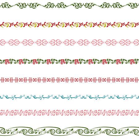 dibujos lineales: Conjunto de elementos de diseño. Ilustración vectorial.
