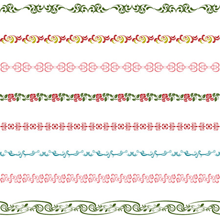 cute border: Insieme di elementi di Design. Illustrazione vettoriale.