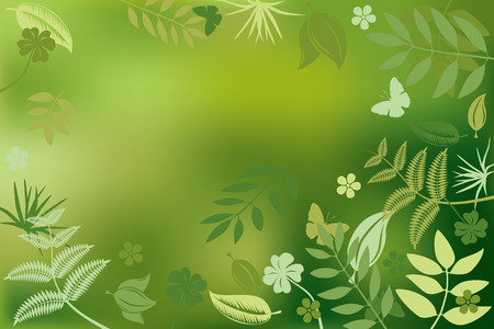 morning dew: Abstract green nature background. Illustration. Illustration