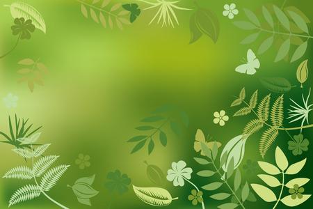 ochtend dauw: Abstract groene natuur achtergrond. Illustratie.