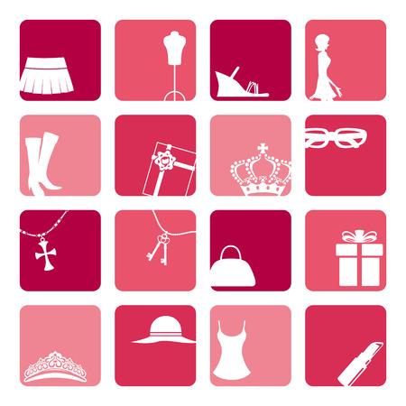Girls Fashion Icons Set Stock Vector - 8610735