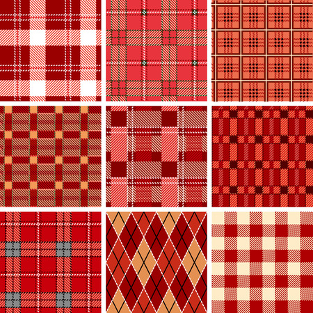 hosiery: Seamless red check pattern. Illustration  Illustration