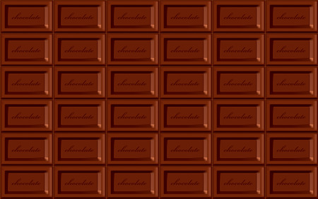 Seamless chocolate background. Illustration  Vector