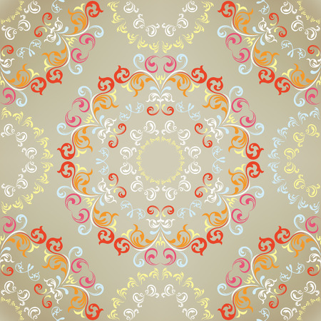 Seamless floral pattern. Illustration  Vector