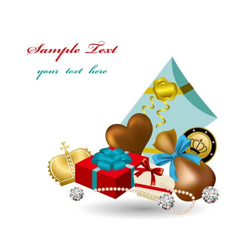 Gift card. Illustration  Stock Vector - 8698608