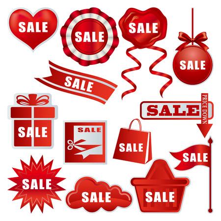 Sale tags set. Illustration. Vector