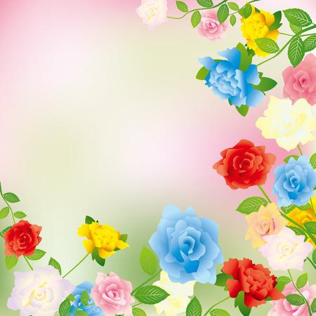 flower arrangement: Rose background. Illustration