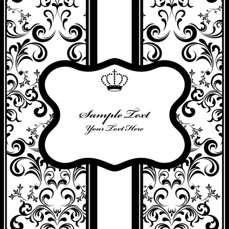 Monochrome Decoration Frame. Illustration Stock Vector - 8716693