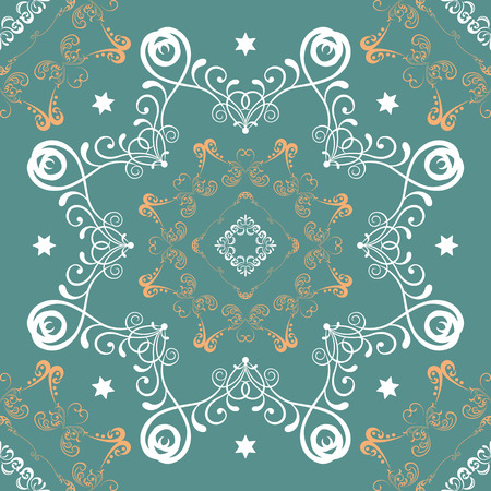 Seamless mandala pattern  Vector
