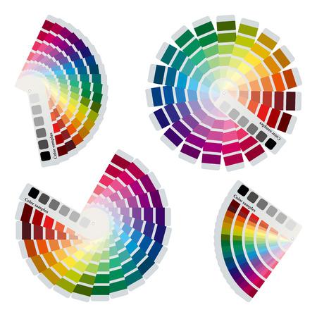 Color charts icons set  向量圖像