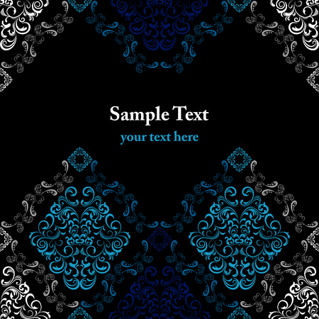 vignette: Abstract seamless stylish pattern  Illustration
