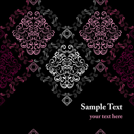 rococo style: Abstract seamless stylish pattern  Illustration
