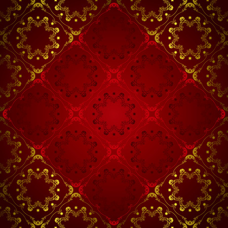 red wallpaper: Abstract Floral Luxury Background  Illustration