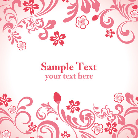Seamless pink cherry blossom frame Stock Vector - 8811994