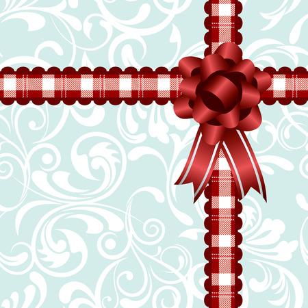 Ribbon decoration background. Illustration