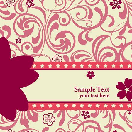 분홍색 벚꽃 배경입니다. 삽화 일러스트