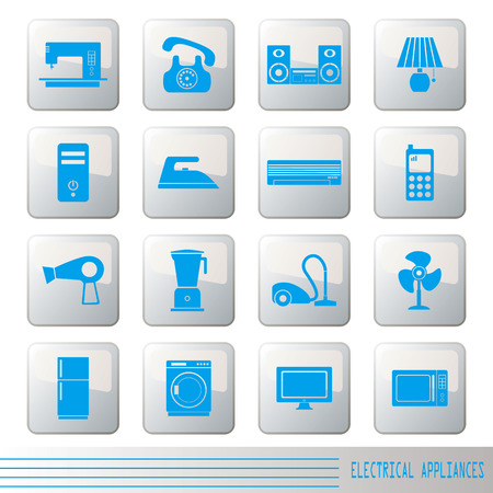 Electrical Appliances Icons Set  Vector