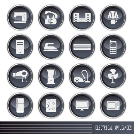 Electrical Appliances Icons Set. Illustration Stock Vector - 8915391