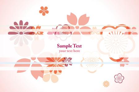 装飾の桜の花の背景。図
