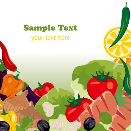 Vegetables frame . Illustration Stock Vector - 8915394