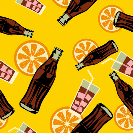 soft drink: Seamless drink pattern