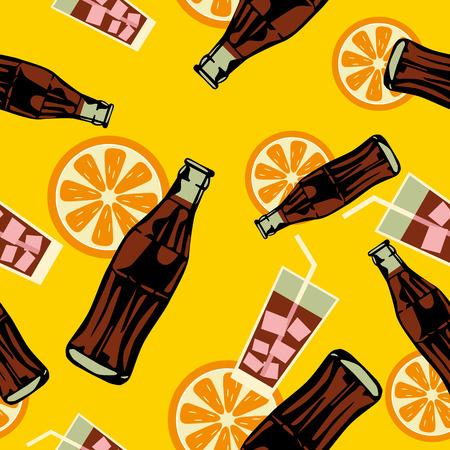 Seamless drink pattern